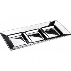 Набор трёх хромированных квадратных тарелок Parma