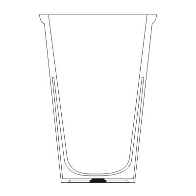 Reklaminis puodelis su dvigubomis sienelėmis