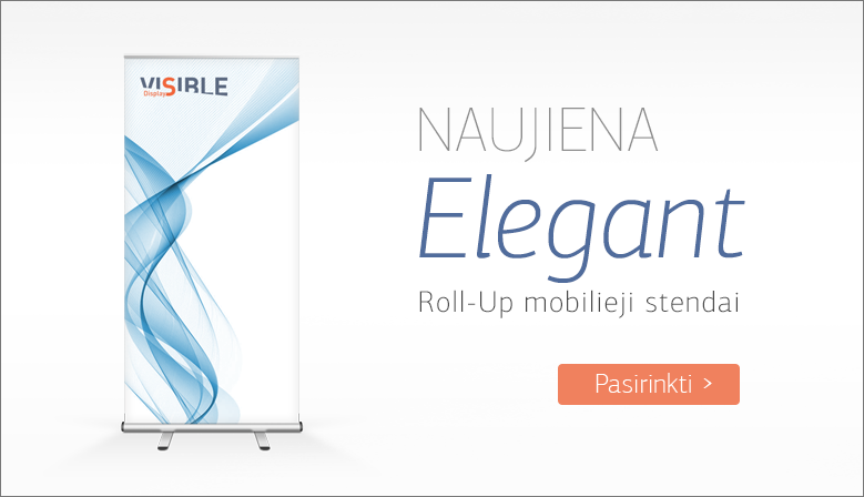 Elegant Roll-up moblieji stendai