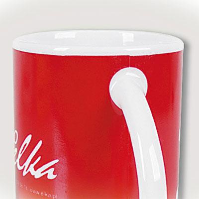 Spausdinimas aplink puodelio auselę