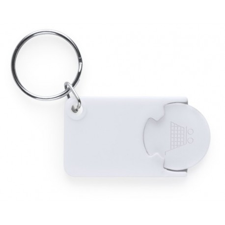 """Reklaminis raktų pakabukas su vežimėlio moneta """"Zabax"""""""