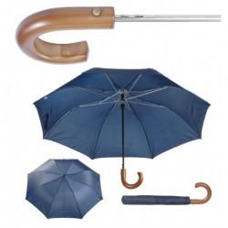 """Reklaminis skėtis su medine rankena """"Stansed"""""""
