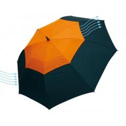 """Reklaminis skėtis su ventiliacijos sistema """"Monsun"""""""