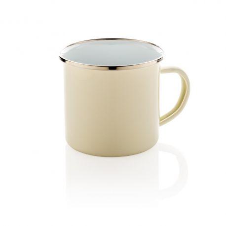 "Reklaminis emaliuotas puodelis ""Vintage"""