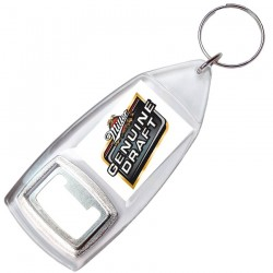 Akrilinis raktų pakabukas su atidarytuvu