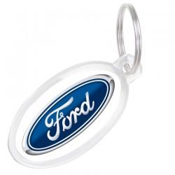 Ovalo formos akrilinis raktų pakabukas