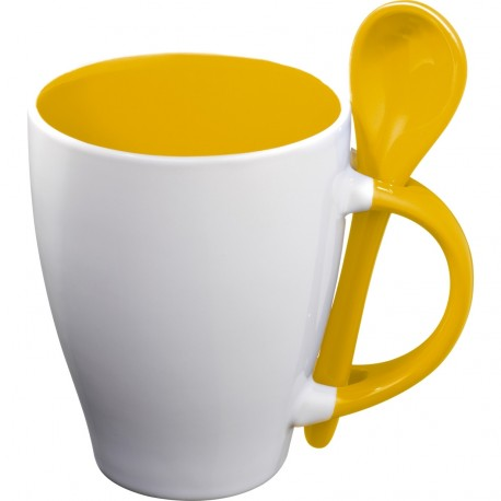 """Reklaminis puodelis su šaukšteliu """"Risley"""""""