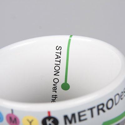 Apvado spausdinimas puodelio viduje
