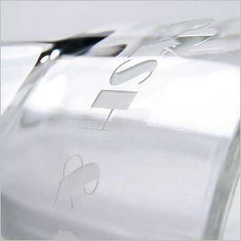 Reklaminis puodelis - skaidrus stiklas