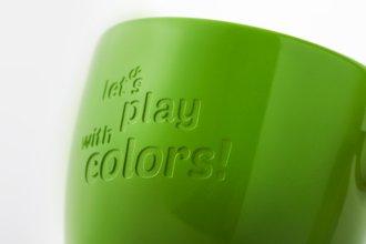 Smėliavimas su reklaminio puodelio glazūravimu